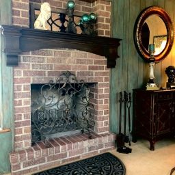 Sunroom Fireplace Mantel