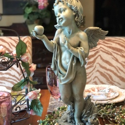 Summer Cherub Tablescape